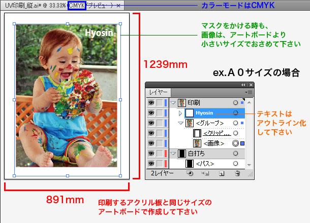 イラストレーター用のデータの作製方法