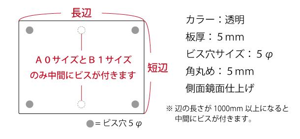 商品の仕様と寸法図
